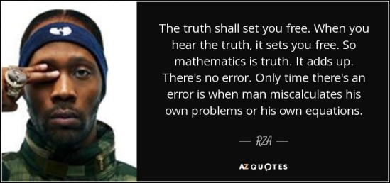 RZA Mathematics quote