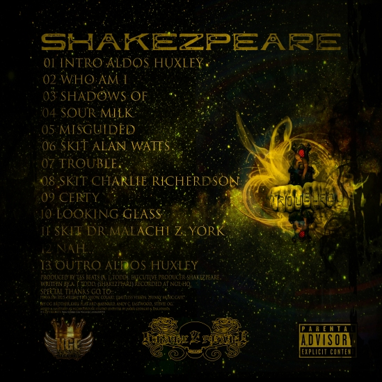 Back Cover - Troubled - Shakezpeare