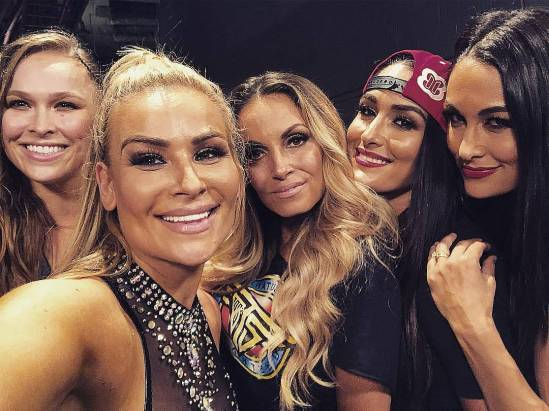 Ronda Natalya Trish Bella